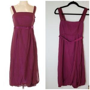 Chaiken Dark Berry Purple Silk Cocktail Dress sz P